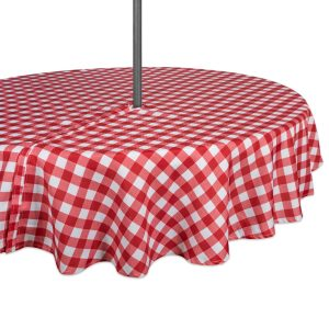Checkered Zipper Outdoor Tablecloth
