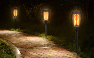 Solar LED Dancing Flames Torches